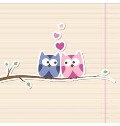 owls in love vector image