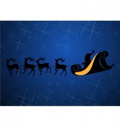 Santa Claus with his reindeers vector image