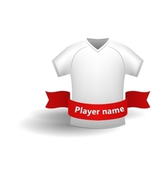 White sports shirt icon cartoon style vector image vector image