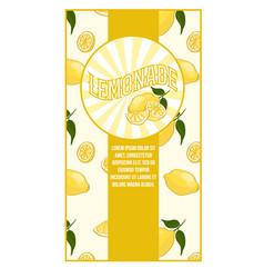 bright flat lemonade poster vector image