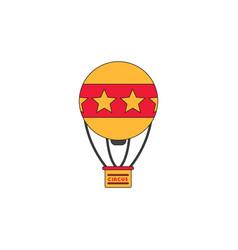 circus watercolor hot air balloon vector image vector image