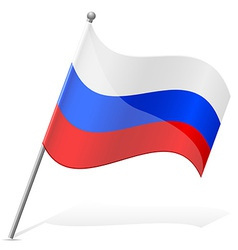 flag of Russian vector image vector image