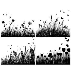 meadow set vector image vector image