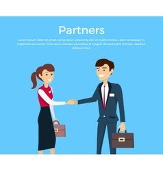 Partners Concept in Flat Design vector image vector image