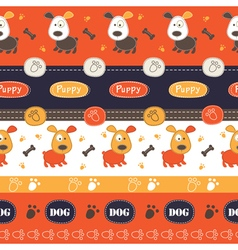 Seamless pattern with cute dogs 2 vector image