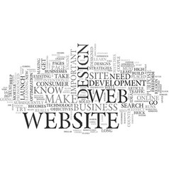 web design extreme makeover text word cloud vector image