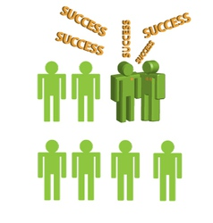 3d human character congratulation success vector