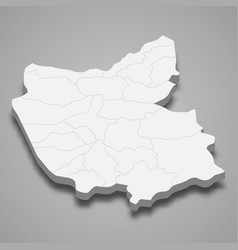 3d isometric map east azerbaijan is a province vector