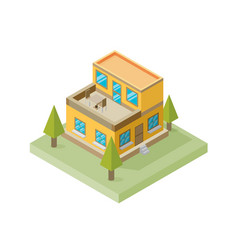 A of a large new isometric home isometric home vector