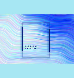 abstract blue stripped wave background vector image