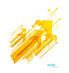 abstract yellow arrows background wallpaper vector image