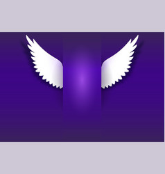 angel wings hovering in the dark vector image