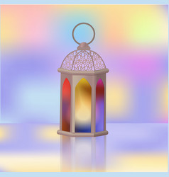 Arabian lantern islamic holy fast of ramazan vector