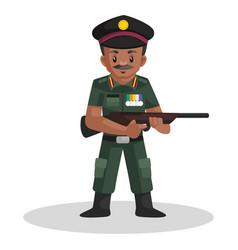 Army man cartoon vector