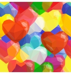 Balloon Hearts Low Poly Pattern vector