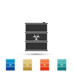 biological hazard or biohazard barrel icon vector image