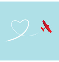 Biplane and heart vector