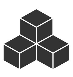 black cubes on white background vector image