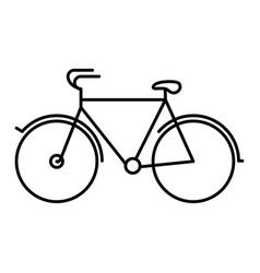 Black silhouette with tourist bicycle icon vector