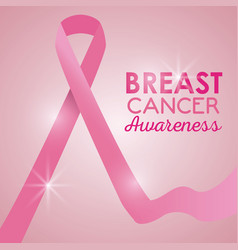 breast cancer campaign poster vector image