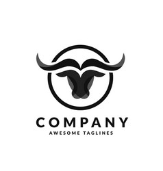 Bull head logo vector