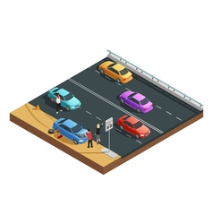 Car Accidents Composition vector