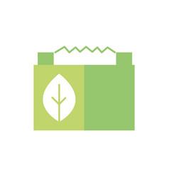 car battery power green energy icon vector image