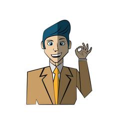 Cartoon man character concept vector