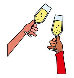champagne glass design vector image