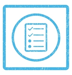 Checklist Page Icon Rubber Stamp vector