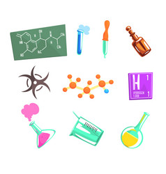 Chemist scientist and chemical science related vector