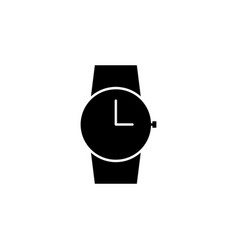 clock watch icon signs and symbols can be used vector image