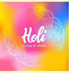colorful holi mandala banner ornament template in vector image