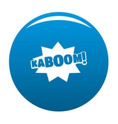 comic boom kaboom icon blue vector image