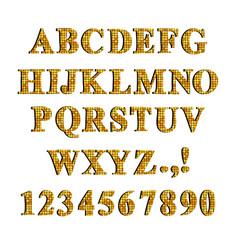decorative font set vector image