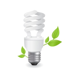 ecological lightbulbs vector image vector image