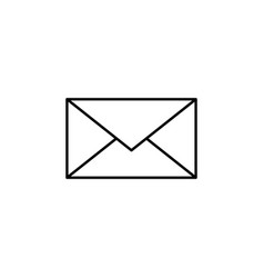 email message outline icon signs and symbols can vector image