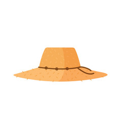 farmer or agricultural worker straw hat vector image