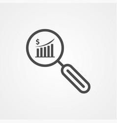 finance monitoring icon sign symbol vector image