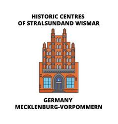 Germany mecklenburg-vorpommern historic centres vector