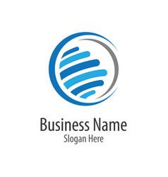 Global icon logo vector