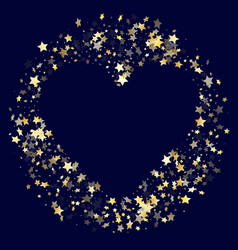 gold falling star sparkle elements of glitter vector image