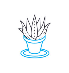 growing of houseplants linear icon concept vector image