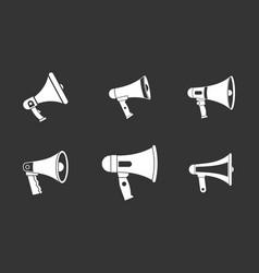 handspeaker icon set grey vector image