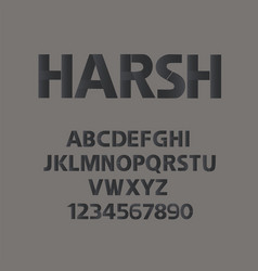 harsh alphabet manhood abc with numbers vector image