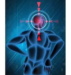 Headache spot in human vector