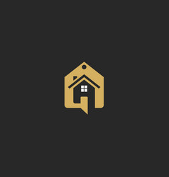 House sell talk realty business logo vector