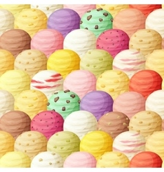 Ice cream scoops seamless pattern vector