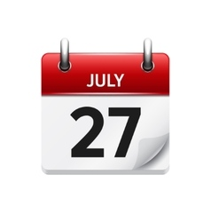 July 27 flat daily calendar icon Date vector