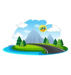 landscape nature summer vector image